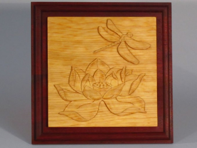 Lotus & Dragonfly Carving