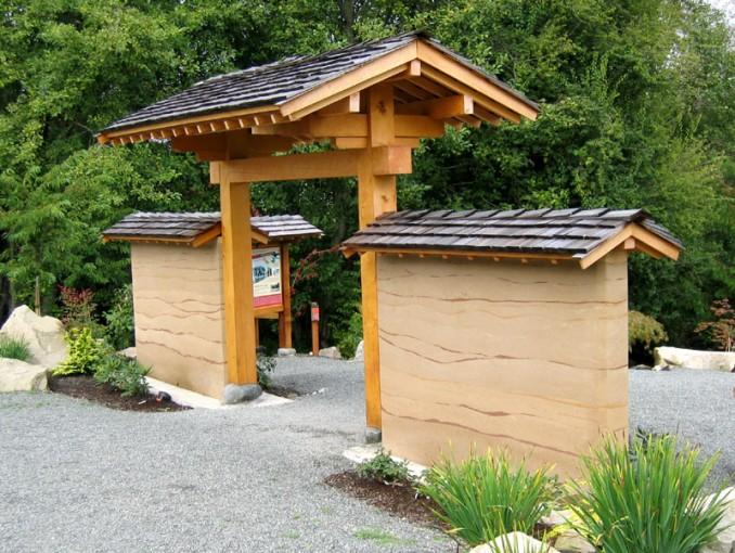 Japanese Timber Park Gate Trc Timberworks